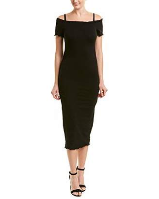 Michael Stars Women's Cotton Lycra Off Shoulder Dress with Removeable Straps