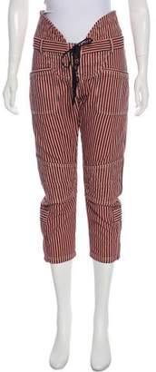 Isabel Marant Striped Cropped Pants