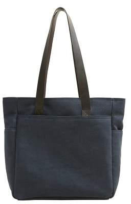 Mango Man MANGO MAN Leather strap tote bag