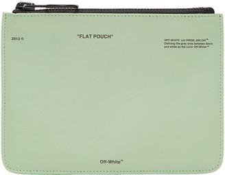 Off-White Green 'Pochette' Pouch $375 thestylecure.com
