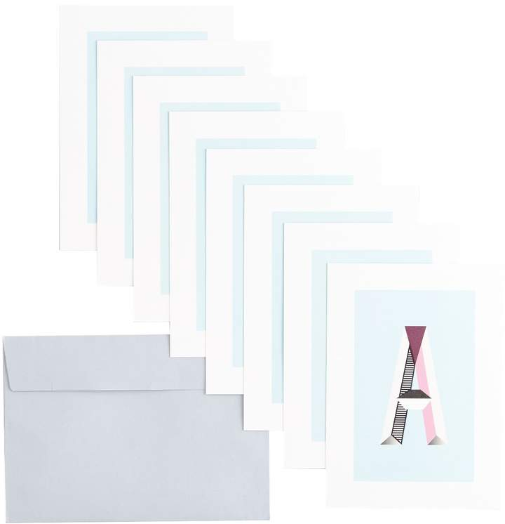 Type and Story - Note card Writing Sets Monogram