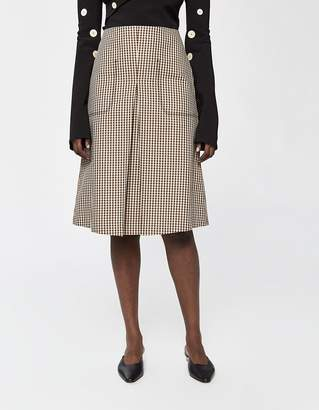 Low Classic Stitch Checked Skirt