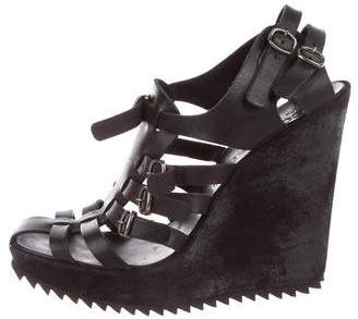 Pedro Garcia Leather Caged Sandals
