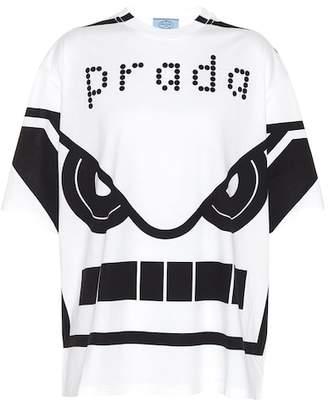 Prada Printed cotton T-shirt