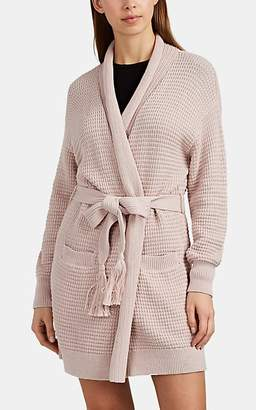 Skin Women's Fiona Waffle-Knit Cotton Wrap Robe - Pink
