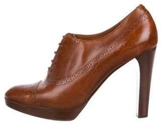 Ralph Lauren Leather Brogue Oxford Pumps
