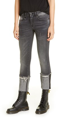 R 13 Kate Cuffed Skinny Jeans