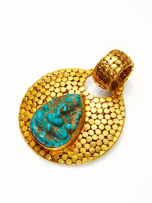 Amrita SinghNadra 18K Yellow Gold & Turquoise Pendant