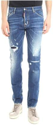 DSQUARED2 Light Wash Cool Guy Jeans
