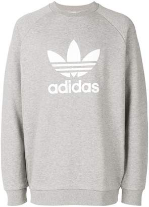 adidas trefoil warm-up sweatshirt