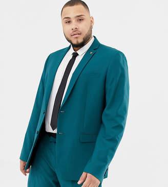 Farah Smart Henderson skinny suit jacket in teal