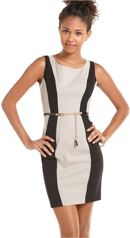 XOXO Dress, Sleeveless Colorblock Career