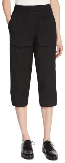 Andrew GnAndrew Gn Cropped Cargo Pants, Black
