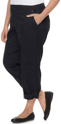 Croft & Barrow Plus Size Twill Convertible Pants