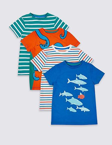 4 Pack Holiday Tops (3 Months - 7 Years)