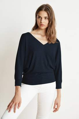 Velvet by Graham & Spencer CANDACE COZY RIB V-NECK DOLMAN TOP