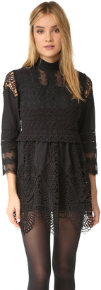 Anna Sui Victorian Embroidered Lace Tunic Dress $465 thestylecure.com