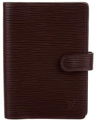 Louis Vuitton Leather Epi Agenda Cover