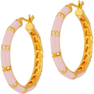 Ralph Lauren G. Adams G Adams Enamel Bamboo Motif Hoop Earrings