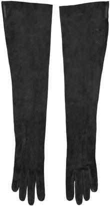 Louis Vuitton Black Suede Gloves
