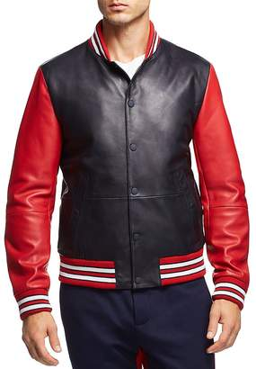 Tommy Hilfiger Essential Leather Varsity Bomber Jacket