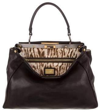 Fendi Peekaboo Leather Satchel