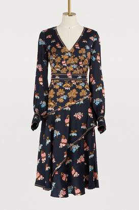 Peter Pilotto Silk V neck dress