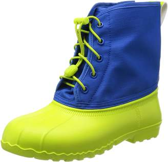 Native Junior Jimmy Boot in Chartreuse Green / Victoria Blue