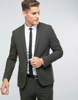 Asos DESIGN Skinny Suit Jacket In Khaki