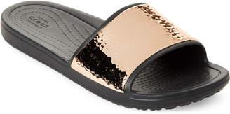 Crocs Sloane Metallic Slides