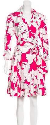 Diane von Furstenberg Jadrian Long Sleeve Wrap Dress
