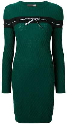 Love Moschino cable knit dress