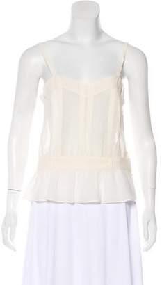 Christian Dior Semi-Sheer Silk Top