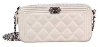 Chanel 2017 Quilted Boy Clutch w/ Chain