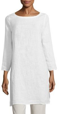 Eileen Fisher Organic Linen Tunic $228 thestylecure.com