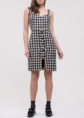 J.o.a. Houndstooth Tweed Dress