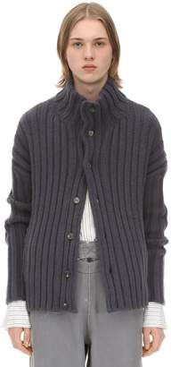 Rochas Virgin Wool & Angora Knit Cardigan