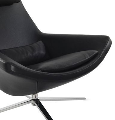 Design Within Reach Metropolitan Chair and Ottoman in Leather