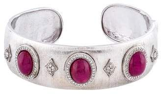 Jude Frances 18K Ruby & Diamond Cuff