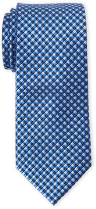 MICHAEL Michael Kors Navy Check Silk Tie