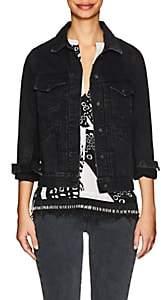 Derek Lam 10 Crosby Women's Toby Denim Trucker Jacket - Dark Gray