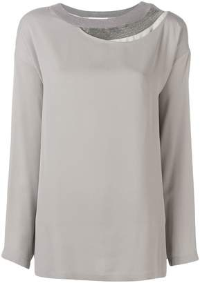 Fabiana Filippi layered neck blouse