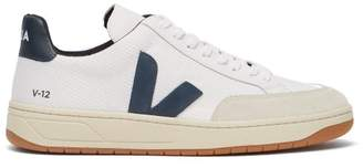 Veja V 12 B Mesh Recycled Low Top Trainers - Mens - White Multi