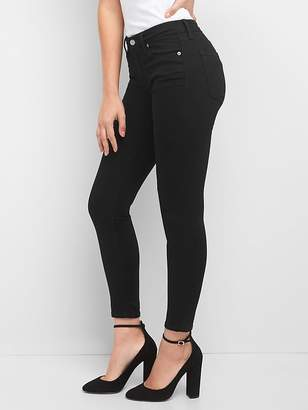 Gap Mid Rise EverBlack True Skinny Jeans in Sculpt