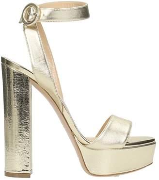 Lerre Plateau Platinum Nappa Leather Sandals
