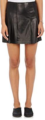 Tess Giberson WOMEN'S PLEATED LEATHER SKIRT