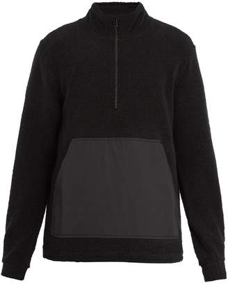 A.P.C. Summit half-zip wool-blend sweatshirt