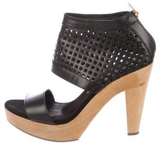 Loeffler Randall Perforated Leather Platform Sandals