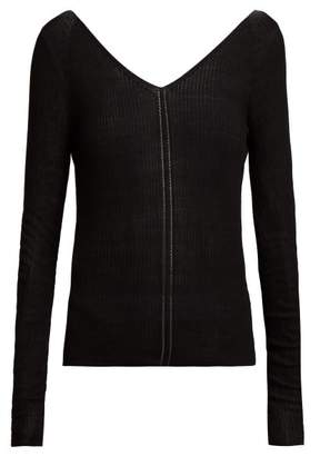 Lemaire Fine Knit Ribbed Sweater - Womens - Black