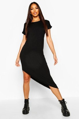 boohoo Asymmetric T-Shirt Midi Dress